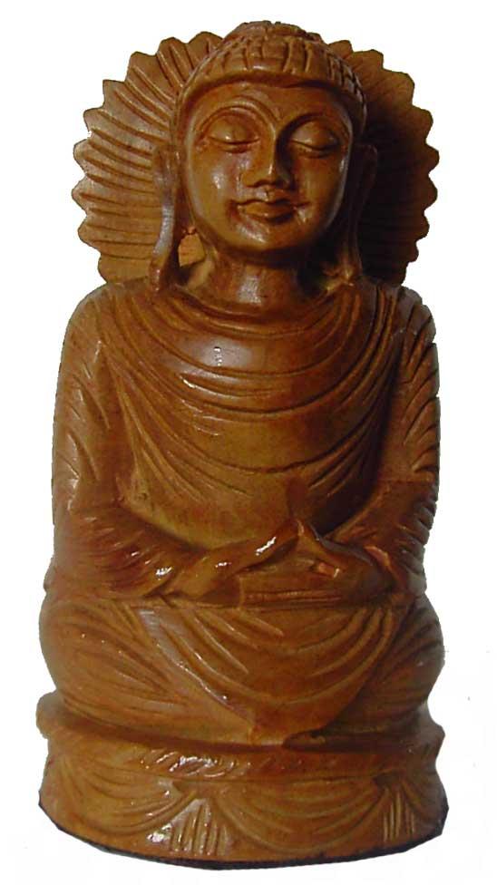 Bouddha Tibétain en bois de Santal