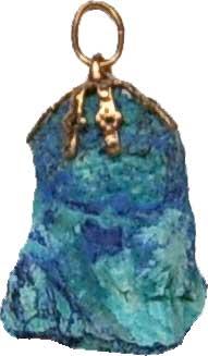 azurite en pendentif