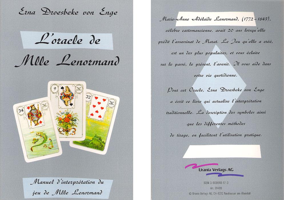 livre Oracle de Mlle Lenormand
