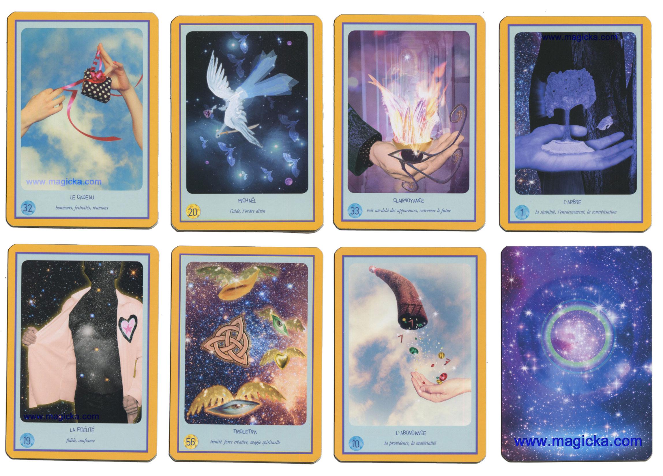 Oracle divinatoire jeu de cartomancie - Tirage en coupe 52 cartes ...